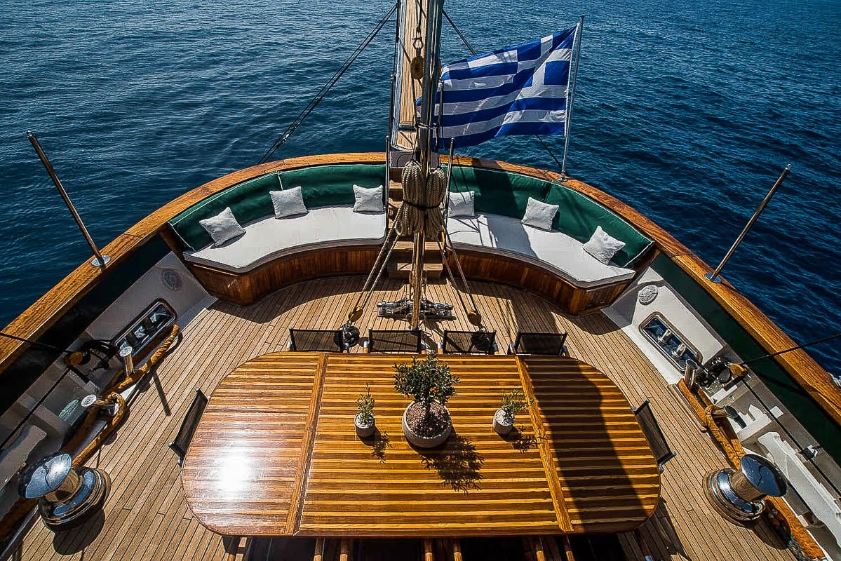 arktos motor sailer lounging (1) min -  Valef Yachts Chartering - 2247