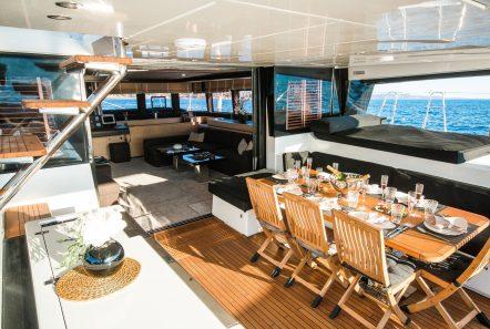 carpe diem catamaran aft deck (1) min -  Valef Yachts Chartering - 2070