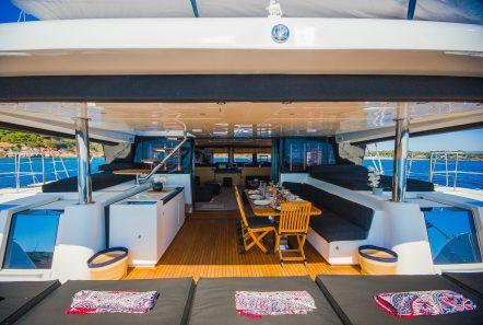 carpe diem catamaran aft deck1 (8) min -  Valef Yachts Chartering - 2060