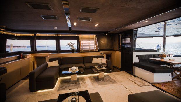carpe diem catamaran salon1 (3) min -  Valef Yachts Chartering - 2021
