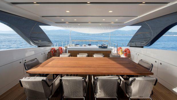 dinaia motor yacht dining table (1) min -  Valef Yachts Chartering - 1933