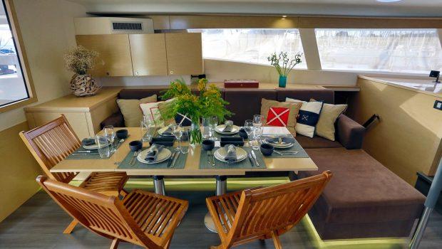 highjinks catamaran dining (1) -  Valef Yachts Chartering - 2436