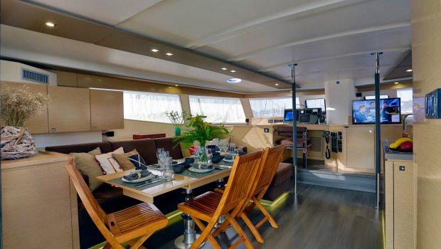 highjinks catamaran dining (2) -  Valef Yachts Chartering - 2440