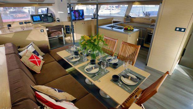 highjinks catamaran dining (3) -  Valef Yachts Chartering - 2439