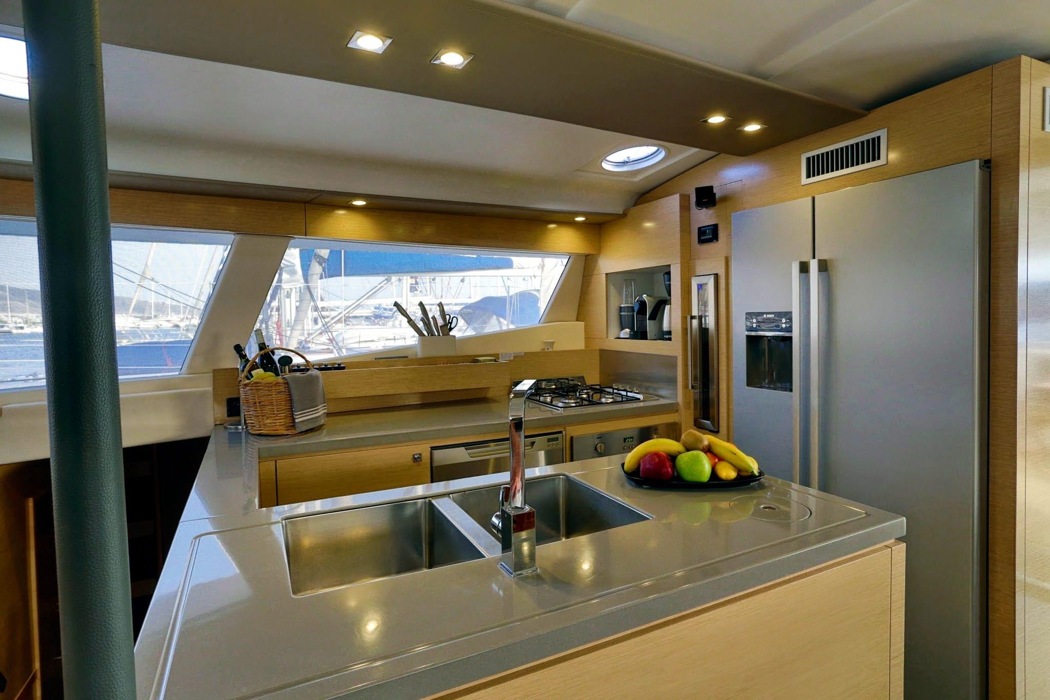 highjinks catamaran galley -  Valef Yachts Chartering - 2438
