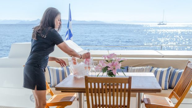 highjinks ii catamaran aft dining (1) min -  Valef Yachts Chartering - 2388