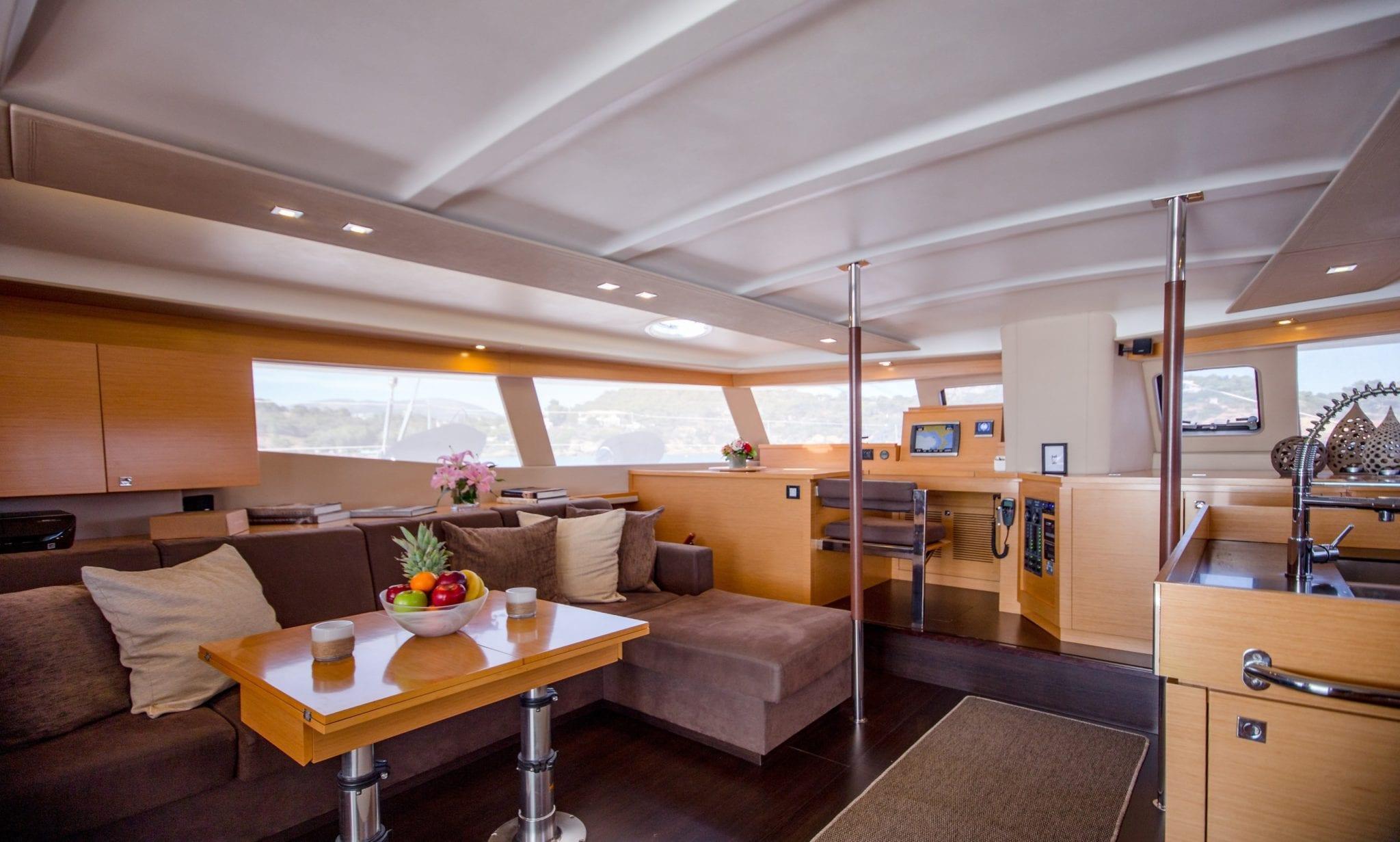 highjinks ii catamaran salon (1) min -  Valef Yachts Chartering - 2394