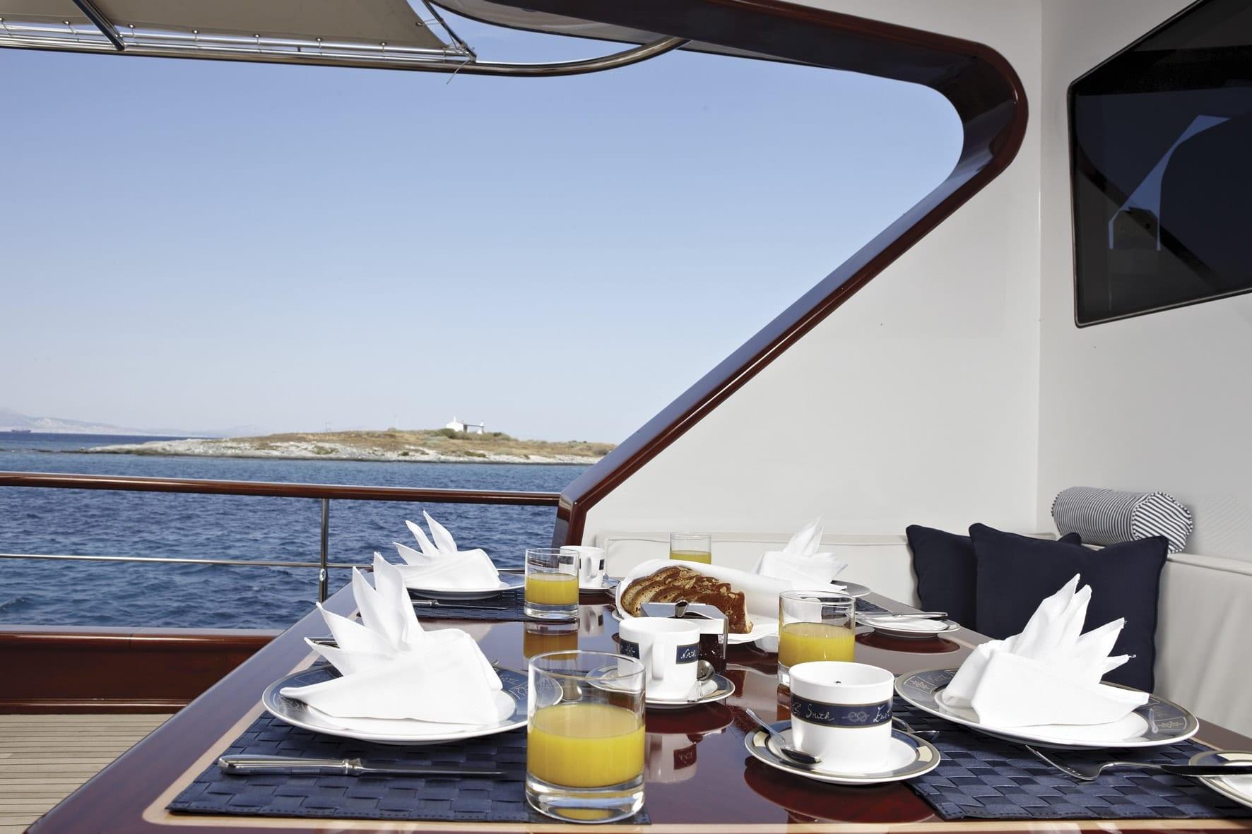 iraklis l motor sailer aft dining (1) min -  Valef Yachts Chartering - 1785