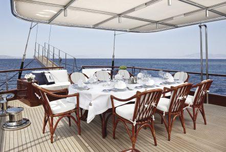 iraklis l motor sailer aft dining (2) min -  Valef Yachts Chartering - 1784