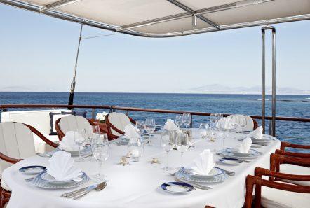 iraklis l motor sailer aft dining (3) min -  Valef Yachts Chartering - 1783
