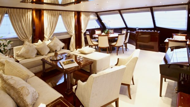 iraklis l motor sailer salon (1) min -  Valef Yachts Chartering - 1803