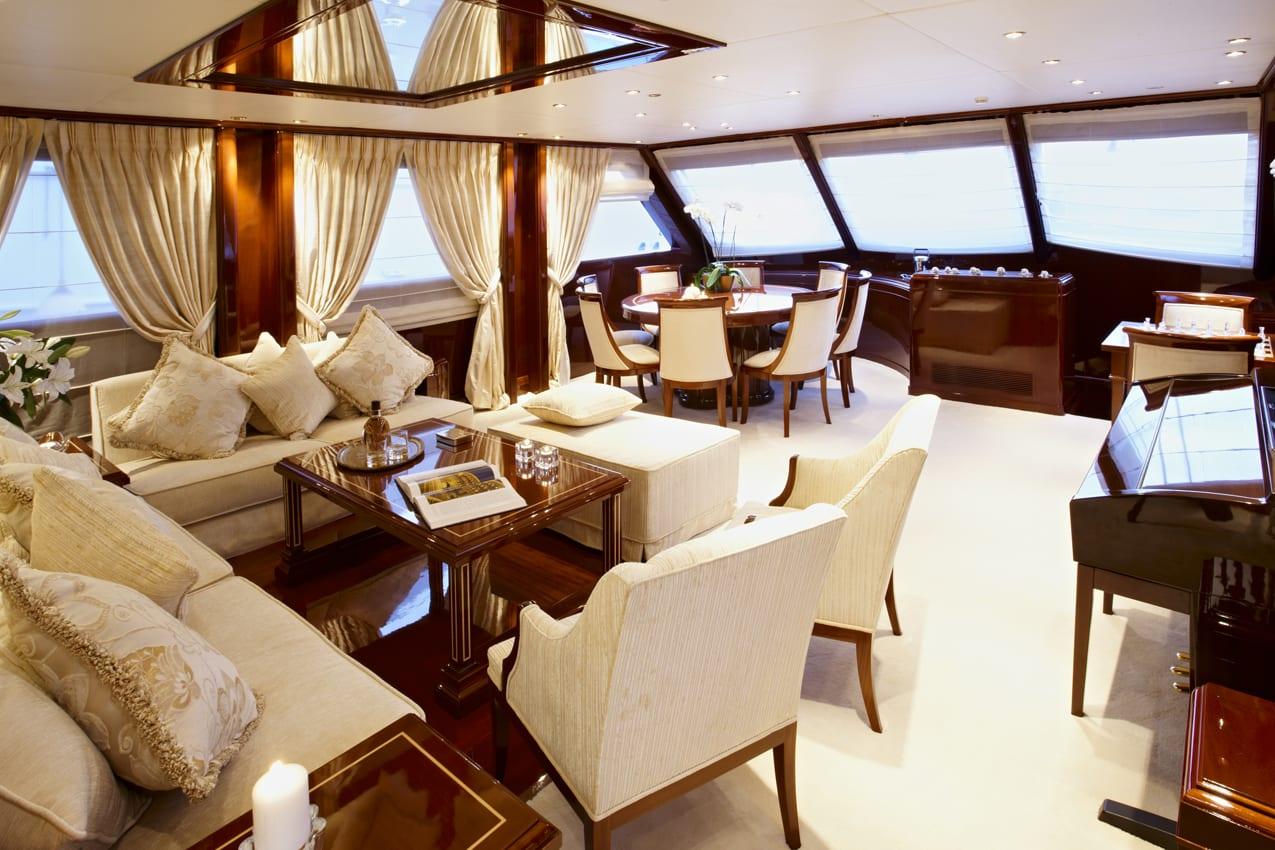 iraklis l motor sailer salon (1) -  Valef Yachts Chartering - 1754