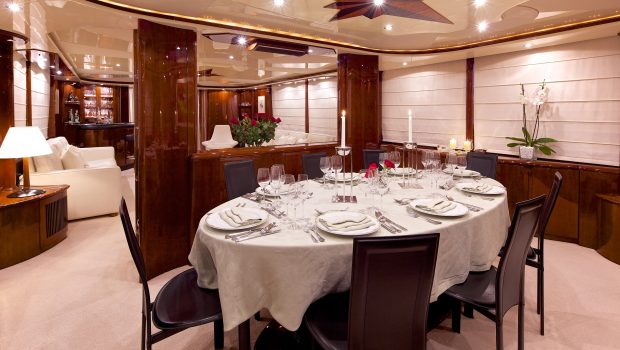 let it be motor yacht dining min -  Valef Yachts Chartering - 2496