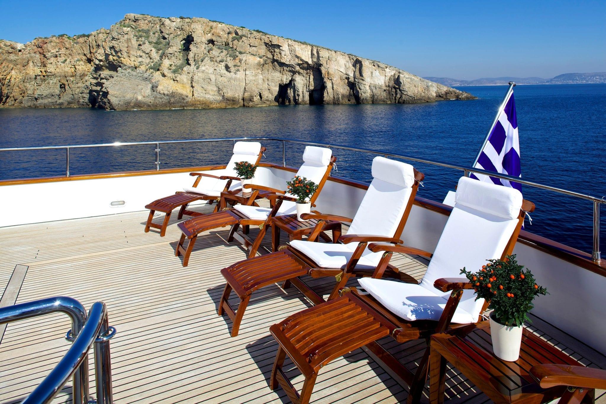let it be motor yacht sundeck min -  Valef Yachts Chartering - 2490