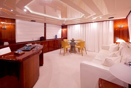 let it be motor yacht upper salon office min -  Valef Yachts Chartering - 2489
