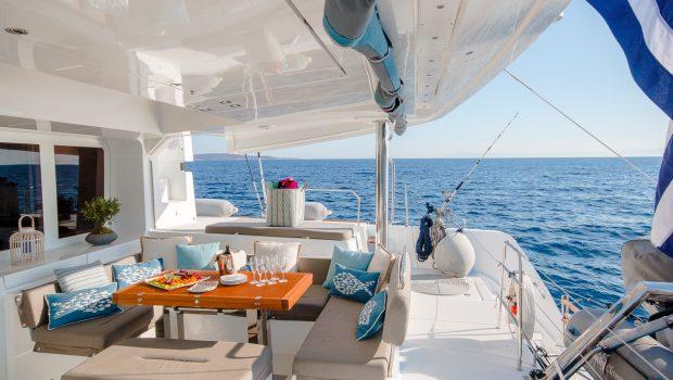 lucky clover catamaran aft deck (10) -  Valef Yachts Chartering - 2457