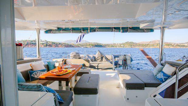 lucky clover catamaran aft deck (11) -  Valef Yachts Chartering - 2456