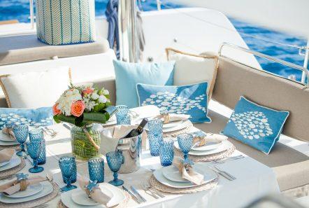 lucky clover catamaran aft deck (14) -  Valef Yachts Chartering - 2455