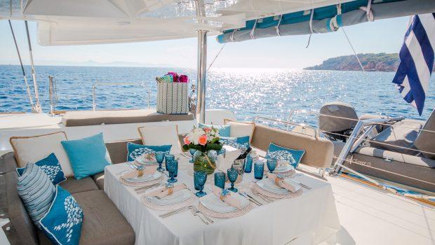 lucky clover catamaran aft deck (2) -  Valef Yachts Chartering - 2462