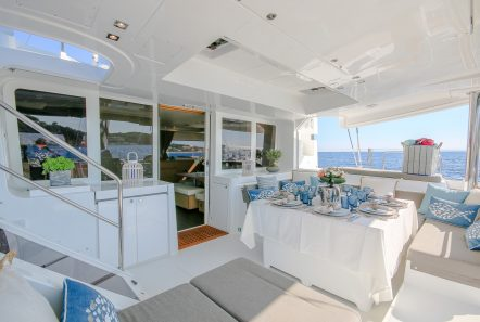 lucky clover catamaran aft deck (5) -  Valef Yachts Chartering - 2461