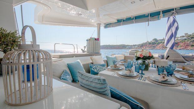 lucky clover catamaran aft deck (6) -  Valef Yachts Chartering - 2460