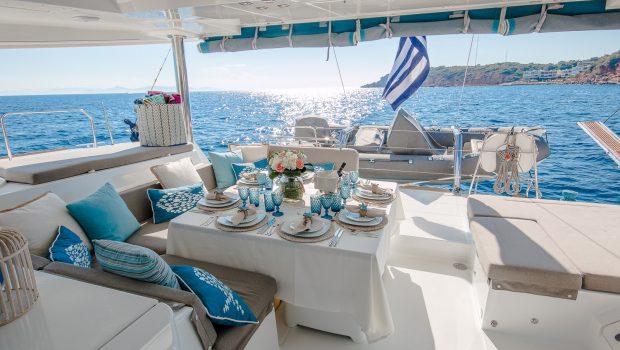 lucky clover catamaran aft deck (8) -  Valef Yachts Chartering - 2459