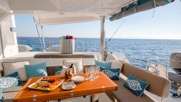lucky clover catamaran aft deck (9) -  Valef Yachts Chartering - 2458