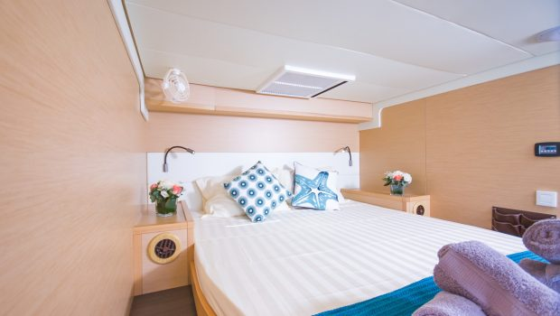 lucky clover catamaran cabins (6) -  Valef Yachts Chartering - 2449