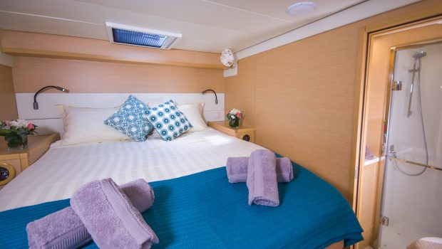 lucky clover catamaran cabins (8) -  Valef Yachts Chartering - 2447