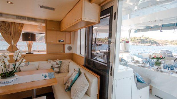 lucky clover catamaran salon (3) -  Valef Yachts Chartering - 2471