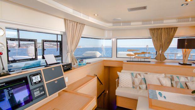 lucky clover catamaran salon (5) -  Valef Yachts Chartering - 2470