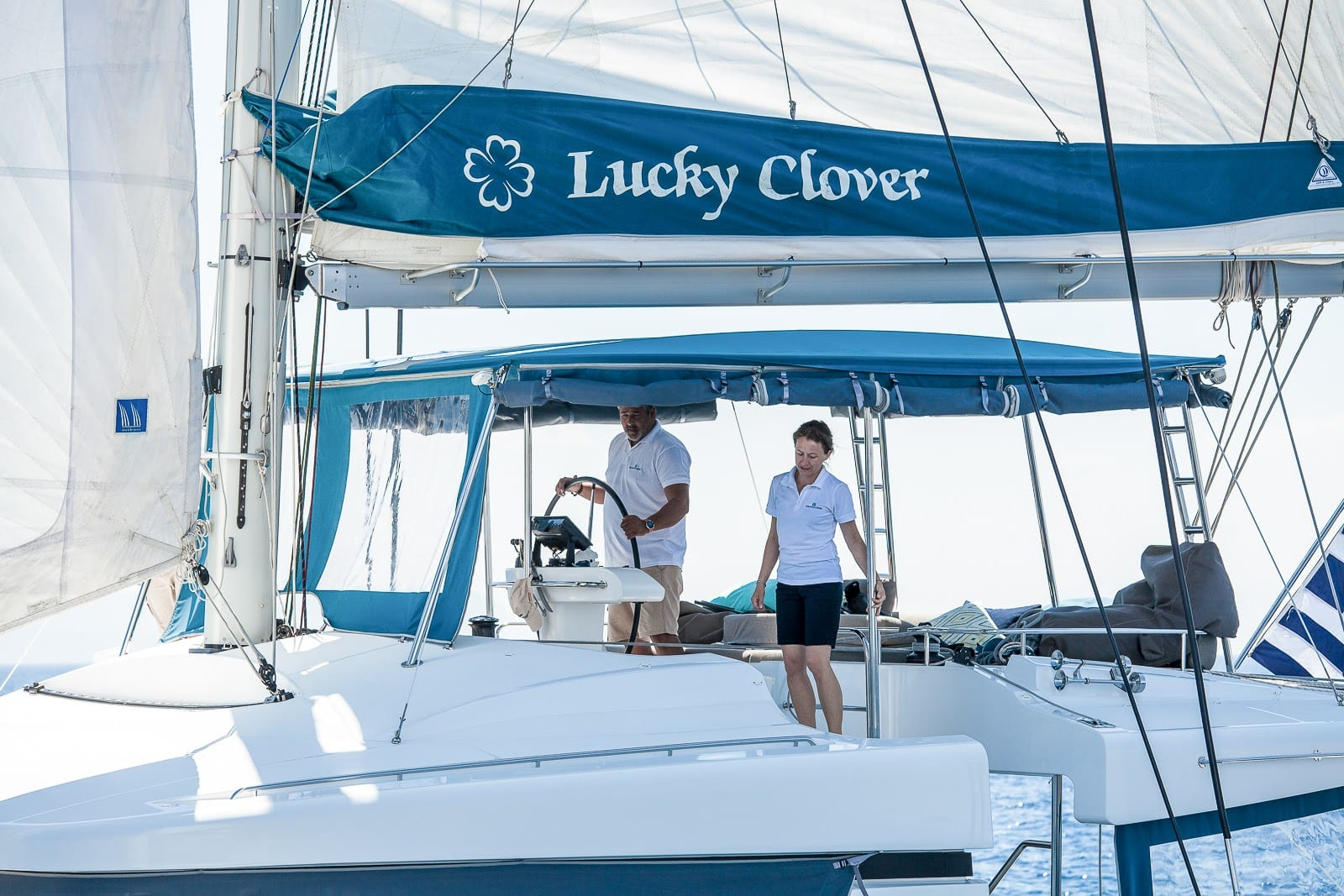 lucky clover catamaran side -  Valef Yachts Chartering - 2465