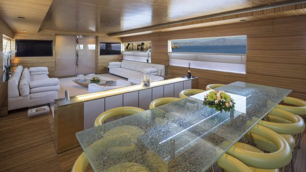 mabrouk motor yacht dining to salon   Copy min -  Valef Yachts Chartering - 2506