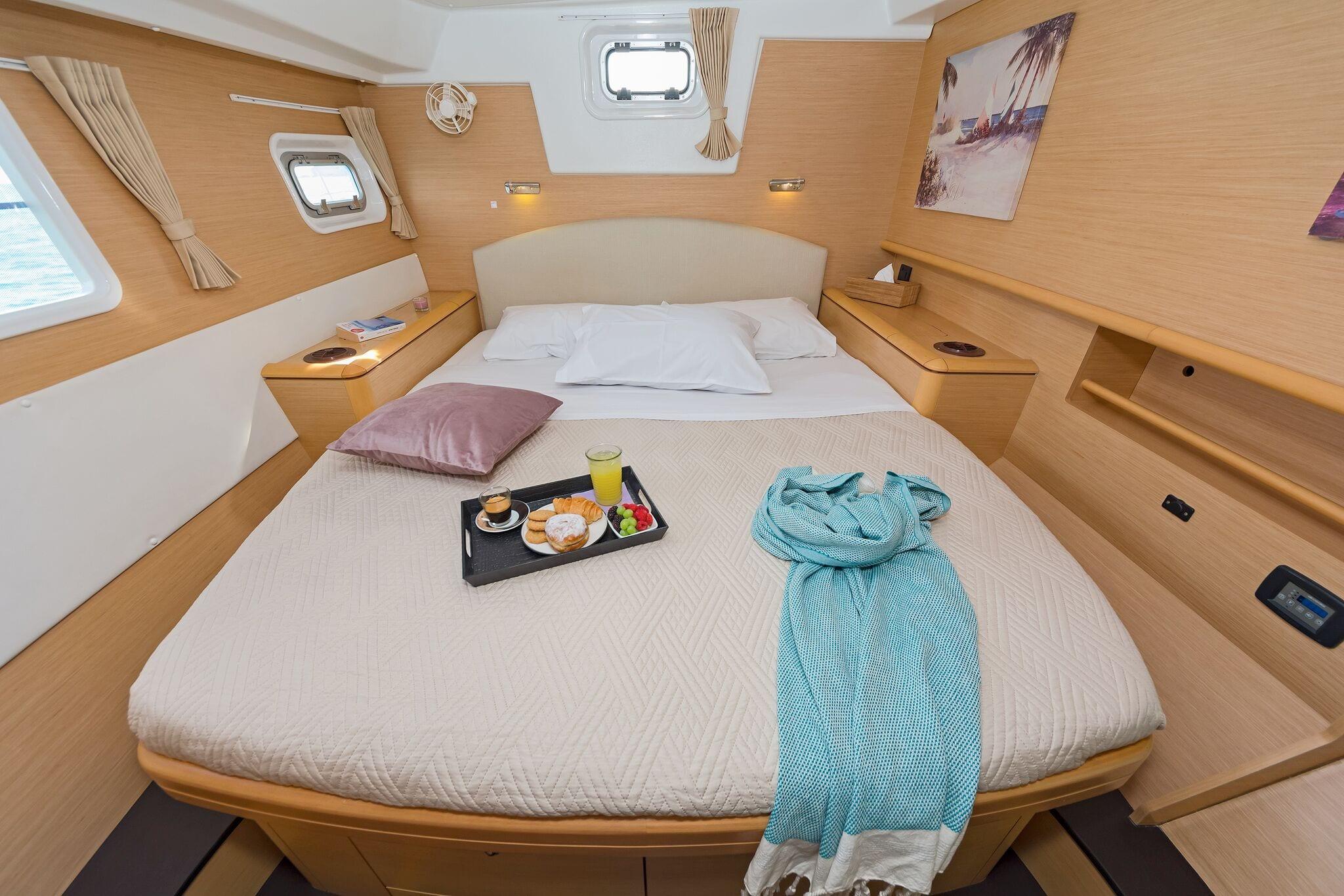 mystique catamaran  cabins (2) min -  Valef Yachts Chartering - 1863
