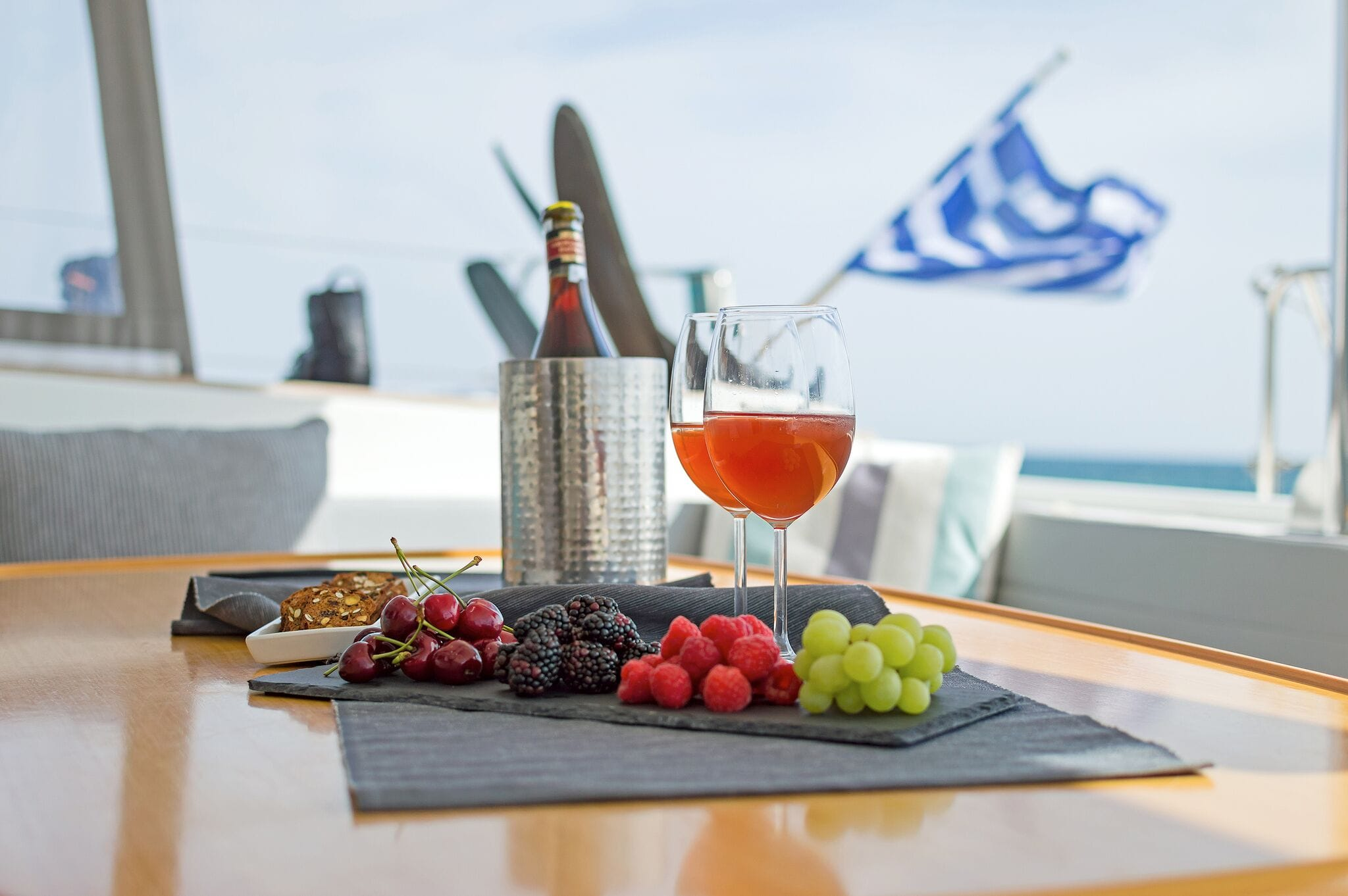 mystique catamaran  dining (1) min -  Valef Yachts Chartering - 1883