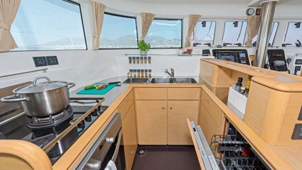 mystique catamaran  galley min -  Valef Yachts Chartering - 1881