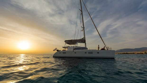 mystique catamaran  sunset (1) min -  Valef Yachts Chartering - 1869