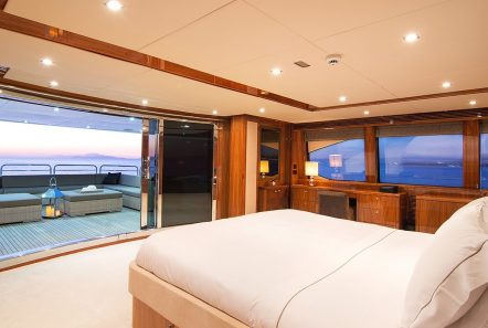 pathos mega yacht master suite to private balcony min -  Valef Yachts Chartering - 2533
