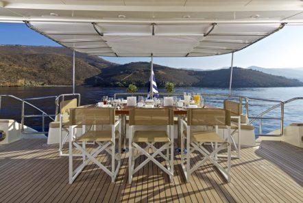 sanjana motor yacht aft -  Valef Yachts Chartering - 1721