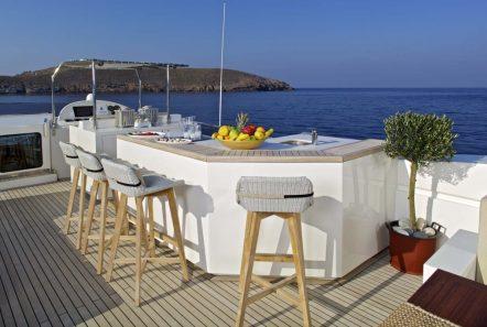 sanjana motor yacht sundeck (1) -  Valef Yachts Chartering - 1727