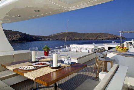 sanjana motor yacht sundeck (2) -  Valef Yachts Chartering - 1726