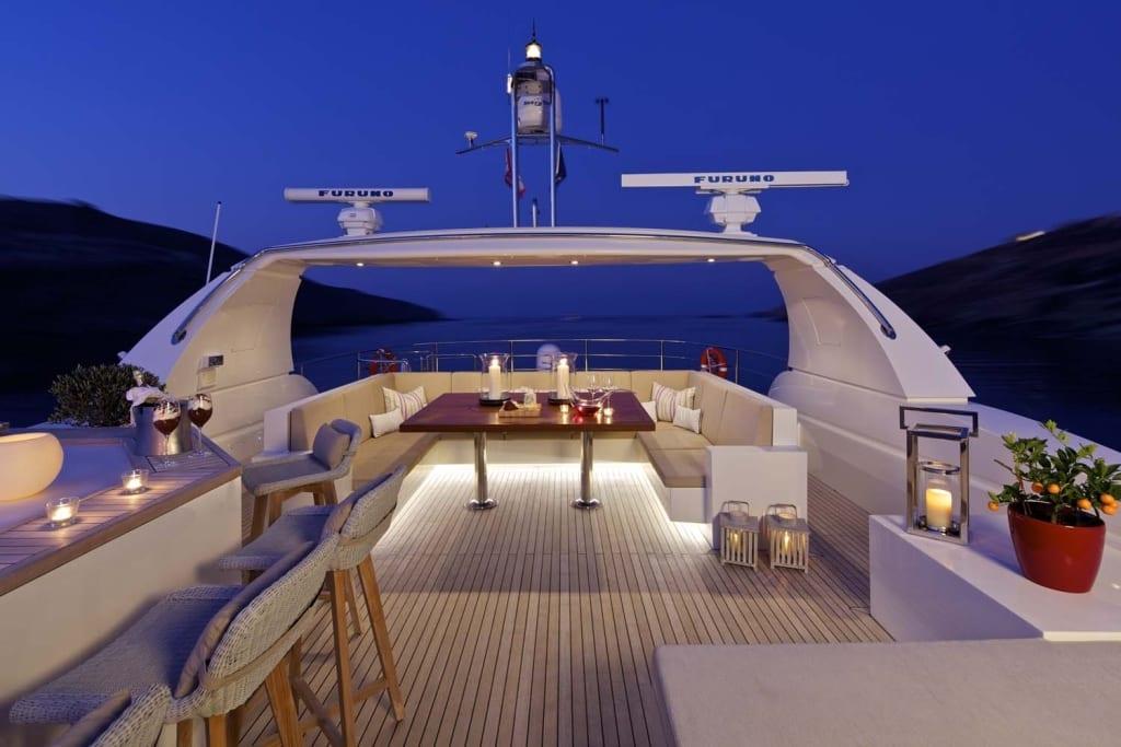 sanjana motor yacht sundeck (5) -  Valef Yachts Chartering - 1723