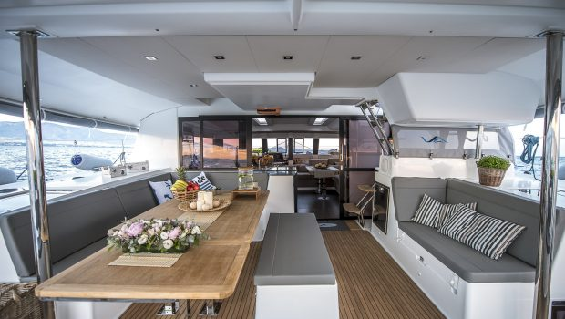 sea energy v catamaran aft deck (3) -  Valef Yachts Chartering - 2092