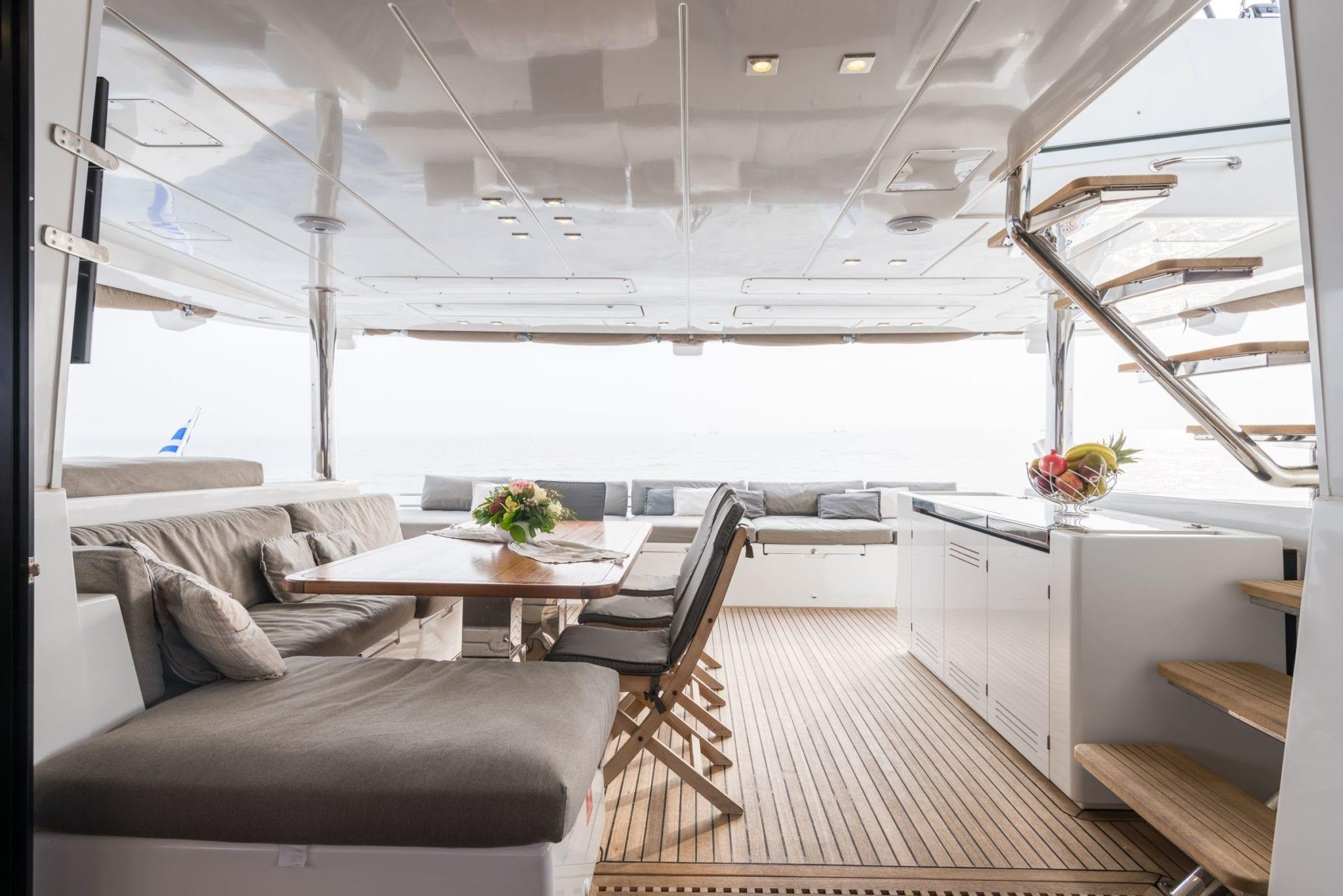 selene catamaran cockpit (6) -  Valef Yachts Chartering - 1968