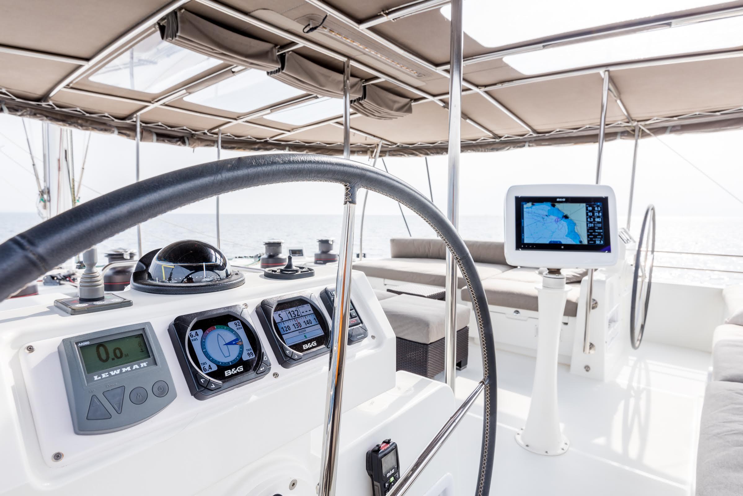 selene catamaran flybridge (5) -  Valef Yachts Chartering - 1977