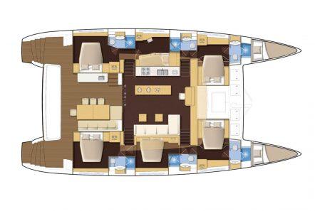valium 62 catamaran layout (2) -  Valef Yachts Chartering - 1944