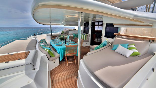 worlds end catamaran aft deck (1) min -  Valef Yachts Chartering - 2142