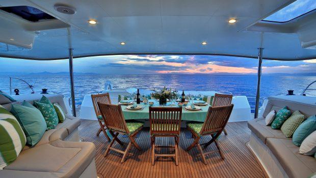 worlds end catamaran aft deck wide min -  Valef Yachts Chartering - 2136