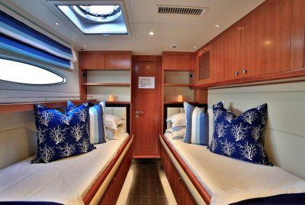 worlds end catamaran cabins and bath (1) min -  Valef Yachts Chartering - 2135