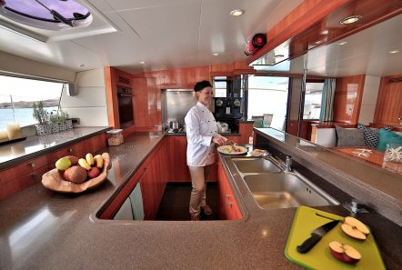 worlds end catamaran galley min -  Valef Yachts Chartering - 2150